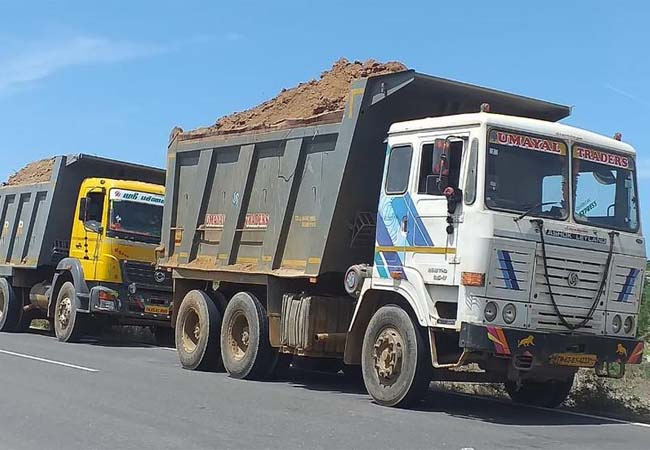 mineral officers soil truck ramanathapuram district