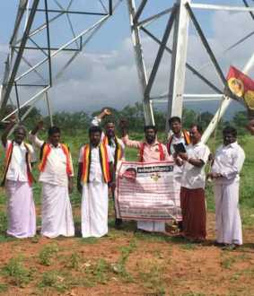 Struggle against setting up power towers on agricultural lands!