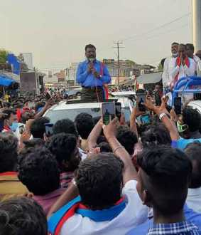 election campaign thol thirumavalavan mp at chidambaram