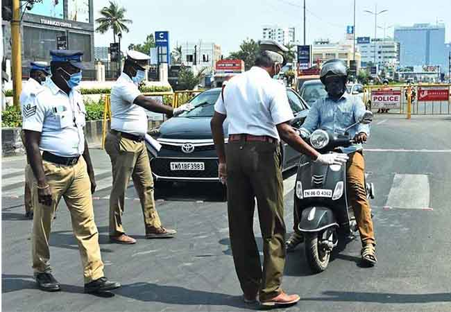 tamilnadu curfew vehicles police fir filled