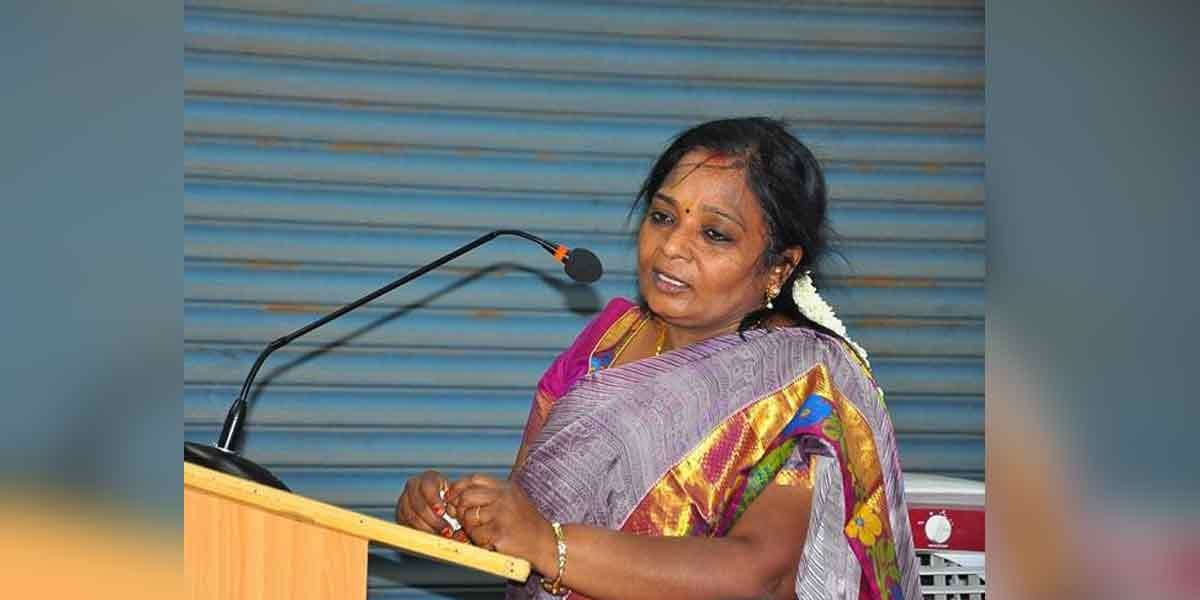 Tamilisai  is taking over as the Deputy Governor of Pondicherry today