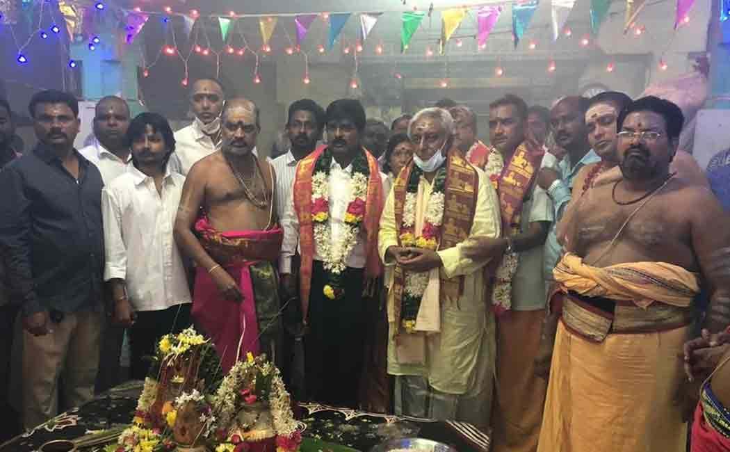 Rajini's brother Satyanarayanan visit thiruvannamalai temple