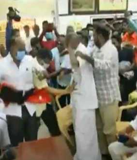 Puducherry Congress meeting riot ... Police, paramilitary concentration