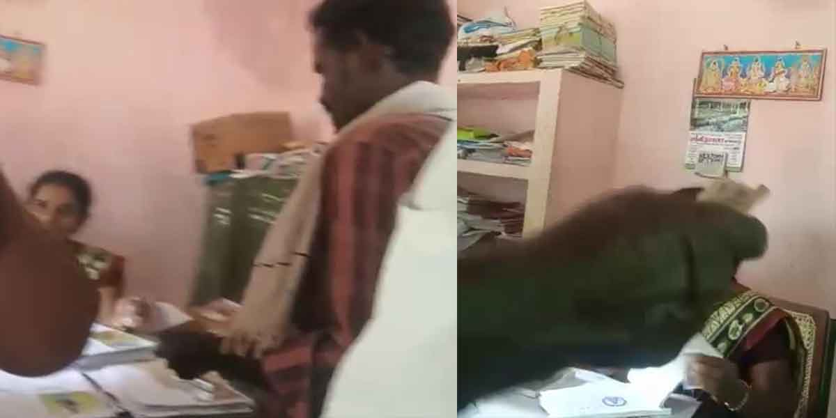 Rs 200 from farmers for crop relief ... Female officer caught in video!