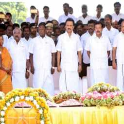 Former Chief Minister Janaki Raman's body  Buried  with good respect