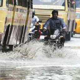 Heavy rainfall in Tamil Nadu