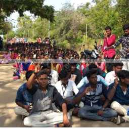 Pollachi Issue - Students protest