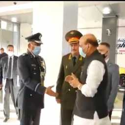 Inian - minister - rajnath singh - arrives - russia