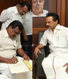 Thanga tamilselvan joined DMK