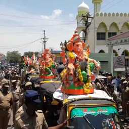 CUDDALORE 63 Statues of Lord Ganesha POLICE SECURITY HIGH ALERT