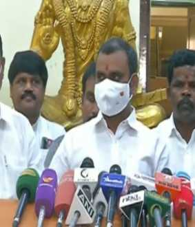 tamilnadu bjp leader l murugan pressmeet at chennai
