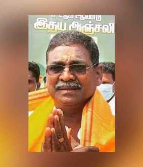 Pattukottai Independent candidate passes away by Corona