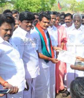 Senthil Balaji started the Election campaign first