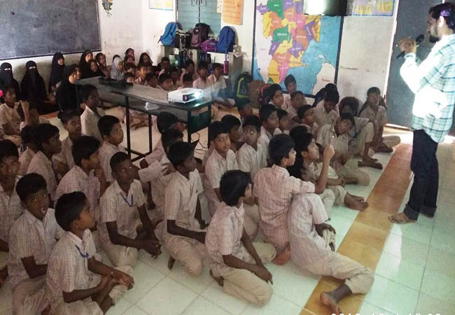 Awareness Program on 'Environmental Protection' in cuddalore district parangipettai schools