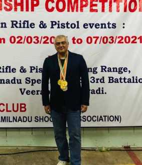 GOLD MEDAL ACTOR AJITHKUMAR IN CHENNAI