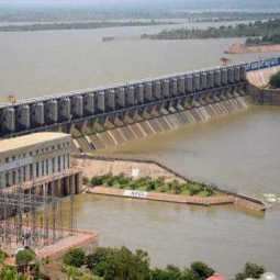 ANDHRA PRADESH GOVT KANDALERU DAM WATER RELEASED LOW LEVEL