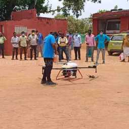 Drone test drive for agricultural crops by drone!