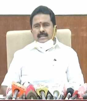 tiruvaruru district minister kamaraj press meet