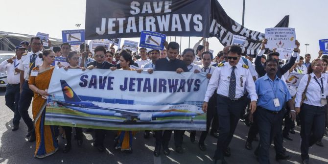 JET AIRWAYS EMPLOYEES JOBS RELATED ACTION UNION CIVIL AVIATION MINISTER ANNOUNCED