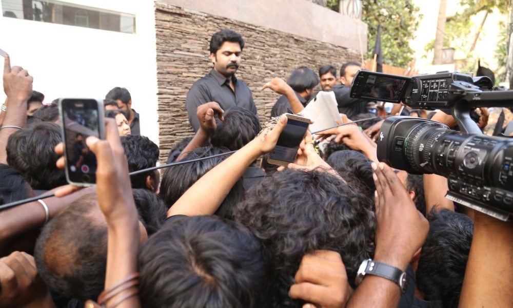simbu home protest
