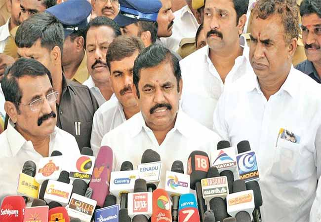 coimbatore airport cm palanisamy press meet