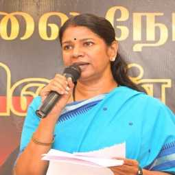 dmk kanimozhi mp pressmeet at madurai