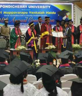 puducherry central university 28th  convocation vice president