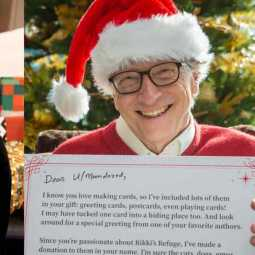 bill gates turns santa for a michigan girl