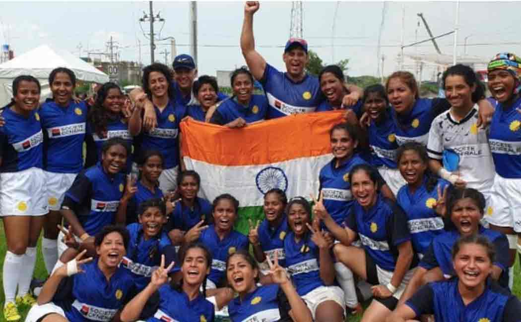 indian women rugby team marks its first international win and makes history