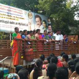 DMK in Trichy condemns gas cylinder price hike