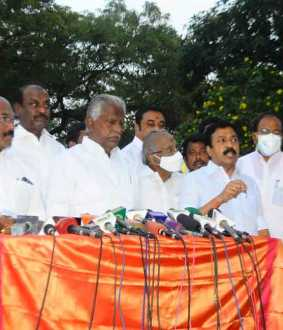 ADMK LEADERS PRESSMEET AT CHENNAI DGP OFFICE
