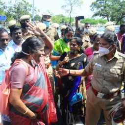 Tamil Nadu Government Employees Union struggled to continue for 5th day ... (Pictures)