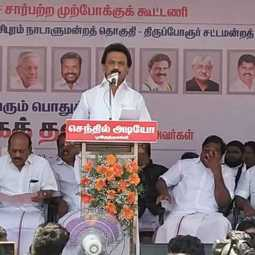 Stalin was emotionally disturbed when he remembered kalaingar