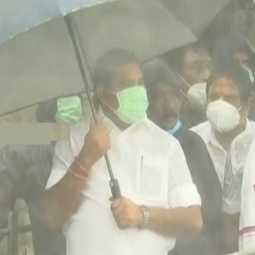tamilnadu cm visit the chembarambakkam lake with officers also