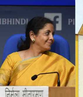 nirmala sitharaman about bringing lic under ipo