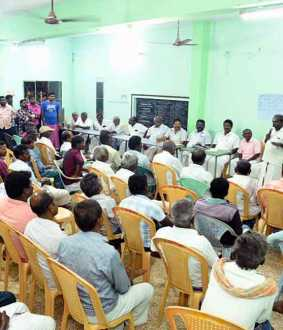tenkasi new district peoples strike and discussion