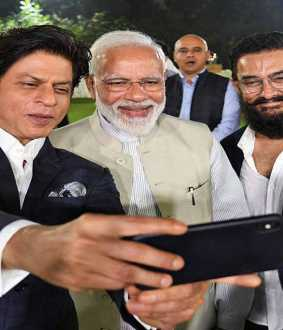 PM NARENDRA MODI MEET BOLLYWOOD ACTORS