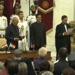 supreme court chief judge Sharad Arvind Bobde swearing in ceremony delhi