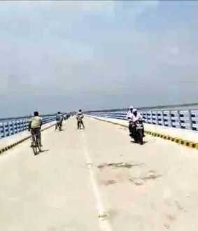 bihar bridge worth 263 crore rupees collapsed in one month