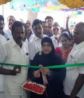 vellore district vaniyampadi womens library opening tn employees welfare minister  nilofer kabil