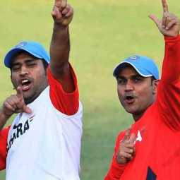 sehwag about dhoni kohli and rahul in indian team