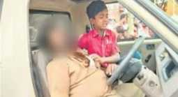 heart attack in a moving car... An 8-year-old son Prevent the accident