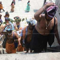 Sabarimala pilgrims who came to the temple in Chennai