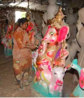 Ganesha statue production