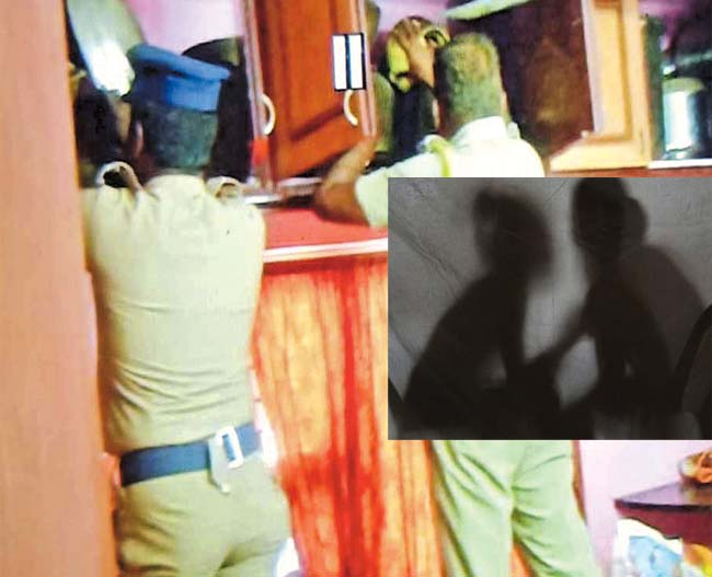women police inspector in illegal relation!