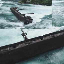 101 year old dislodged boat found in niagara river