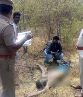 incident near Bhuvanagiri! body throwed in blows in barbed