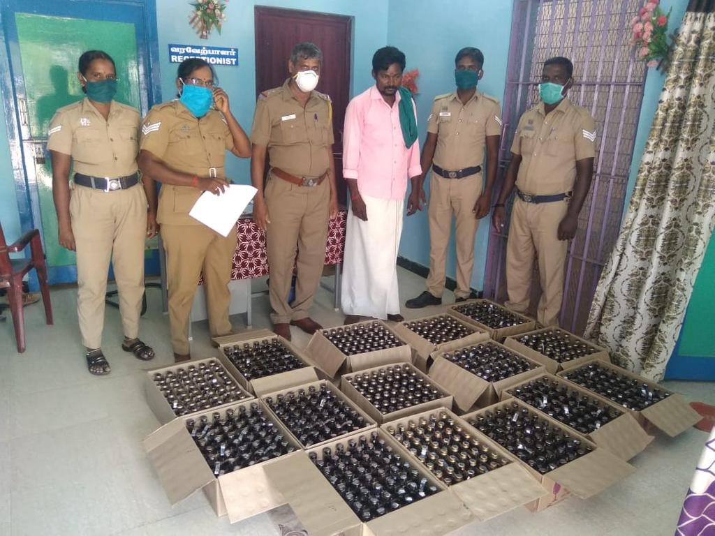 youth Arrested with vehicle,Wine pottle sale in bulk  on curfew