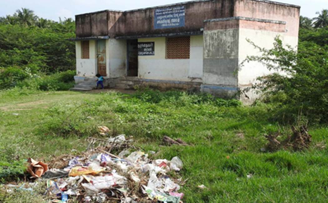 Anganwadi state of collapse near Dindigul