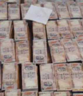 seizes old banknotes at DMK  person home